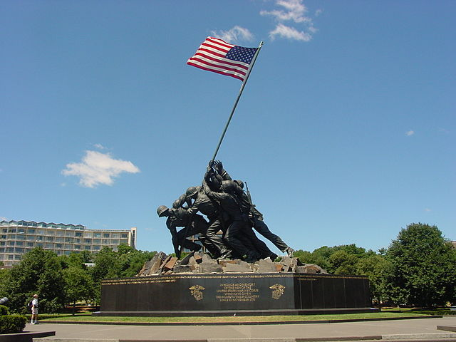 640px-US Marine_Corps_War_Memorial_Iwo_Jima_Monument_near_Washington_DC
